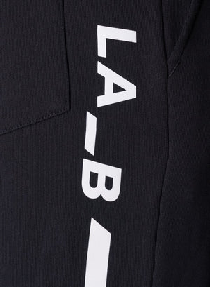 LA-B Logo Stripe Sweatpants White Reflective men