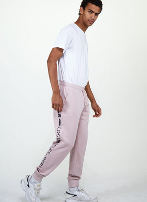 LA-B Logo Stripe Sweatpants tech rose men
