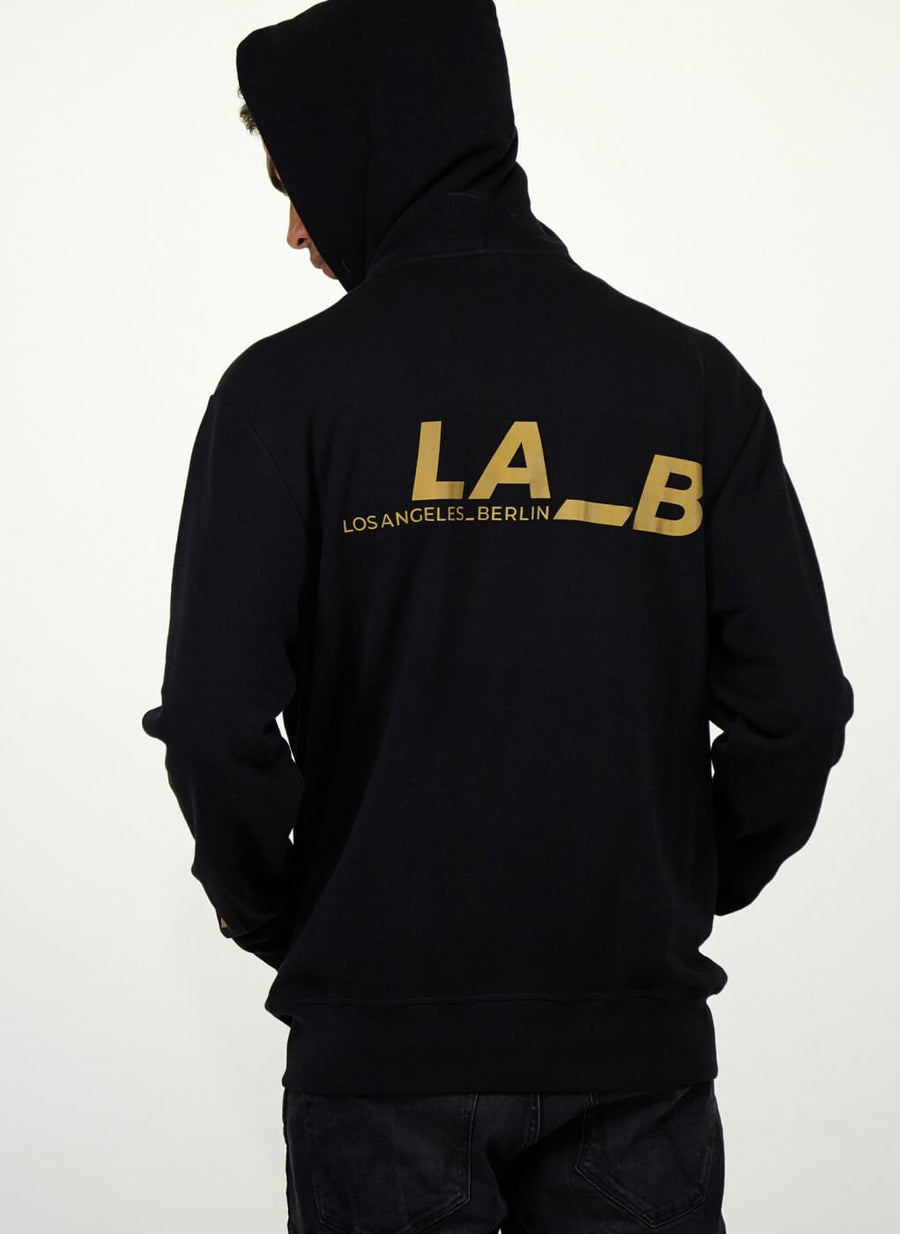 LA_B Classic Hoodie Jacket Black men
