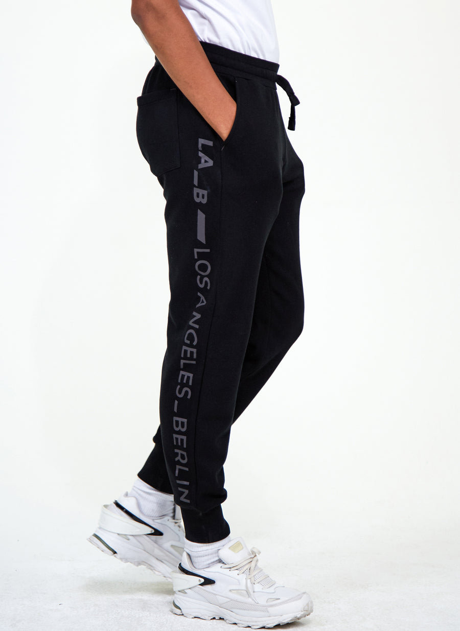Logo Stripe Sweatpants Black Anthracite