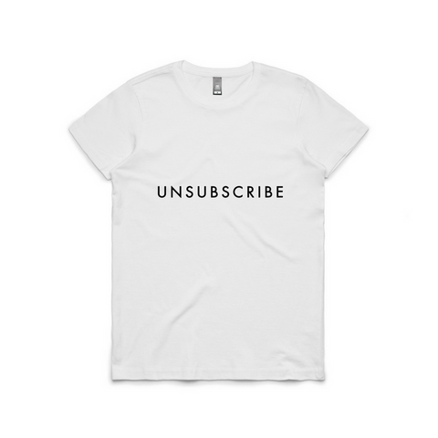 Unsubscribe Short Sleeve Tee | YDY