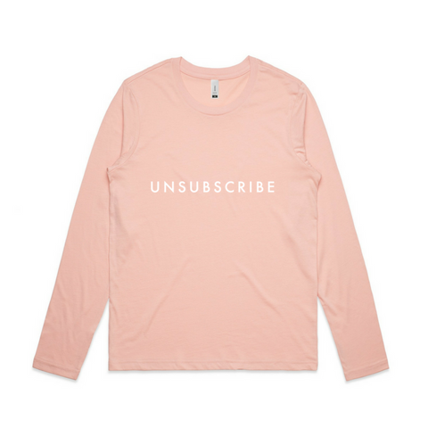 Unsubscribe Long Sleeve Tee | YDY