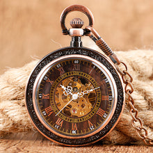 Unisex Mechanical Pocket Watch - Bronze