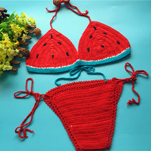 Crochet Watermelon Bikini Set