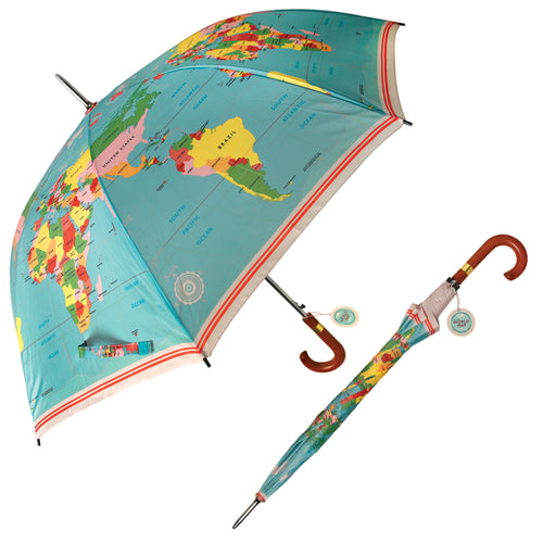 WORLD MAP GENTLEMAN'S UMBRELLA