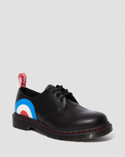Dr Martens x The Who 1461 Target Smooth 3 Eye Shoes With Union Target UK 4