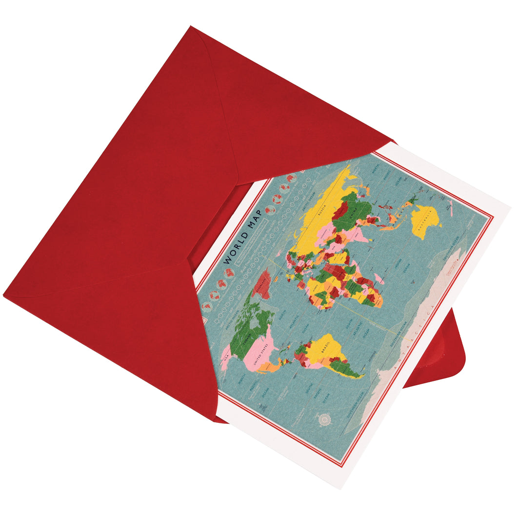 World Map Card