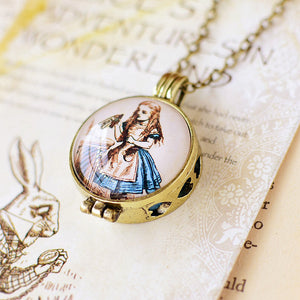 Alice In Wonderland Secret Locket Necklace - Alice