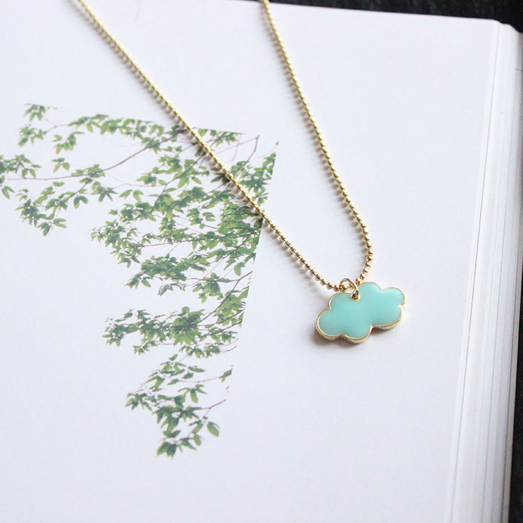 Enamel Little Cloud Necklace