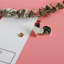 Rooster Enamel Badge