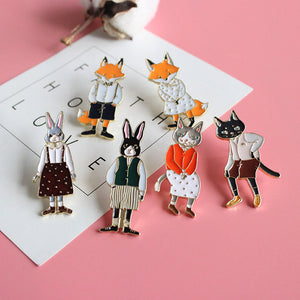 Grandpa Cat Enamel Badge