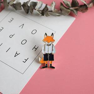 Fox Enamel Badge