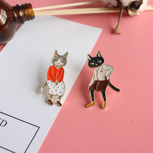 Grandma Cat Enamel Badge
