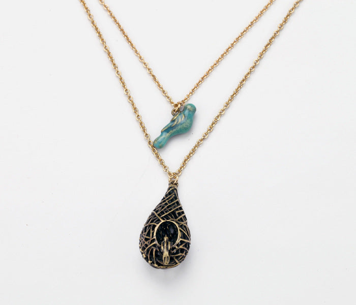 Vintage Inspired Bird Nest Necklace