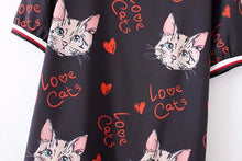 Love cats smock dress