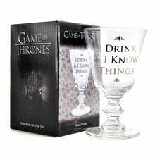 Game of Thrones Wine Glass - I Drink & I Know Things