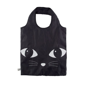 Black Cat Foldable Shopping Bag