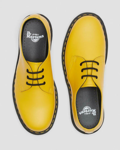 Dr. Martens Classic 1461 Yellow Smooth 3-Eyelet Lace-up Flat Shoes UK 9 & 11