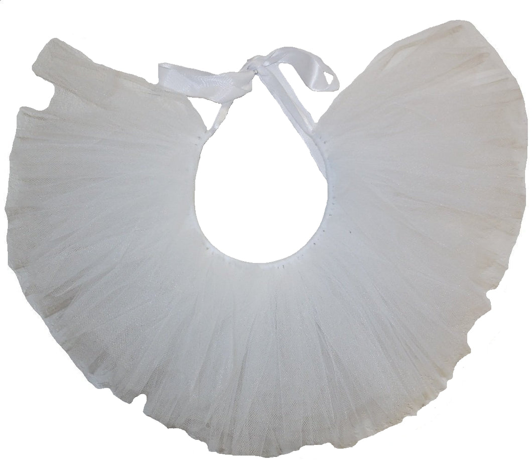 Handcrafted White Tulle Tutu for Pets