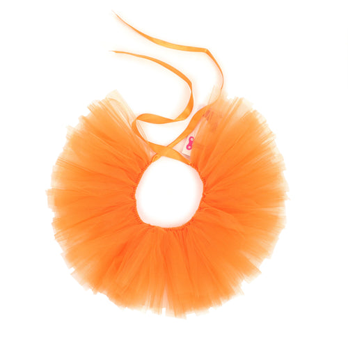 Handcrafted Orange Tulle Tutu for Pets