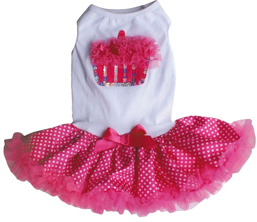 Hot Pink Cupcake Ruffle Petti Dress