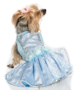 Blue Costume Ruffle Petti Dress