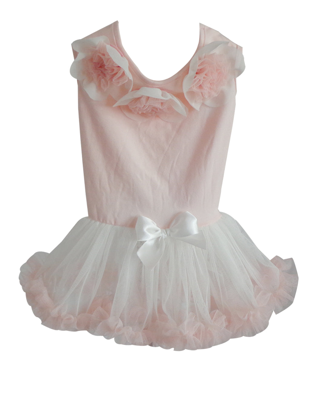 Light Peach Ruffle Petti Dress