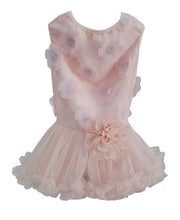 Peach Flower Ruffle Petti Dress