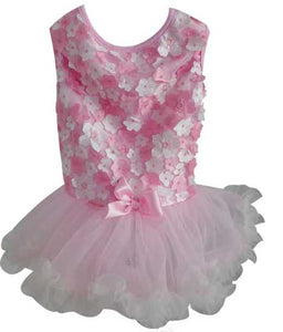 Pink 3D Flower Petti Dress
