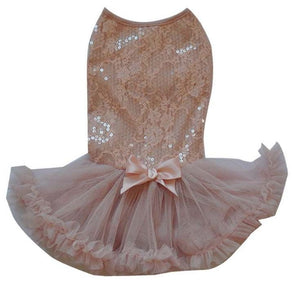 Dusty Rose Lace Petti Dress