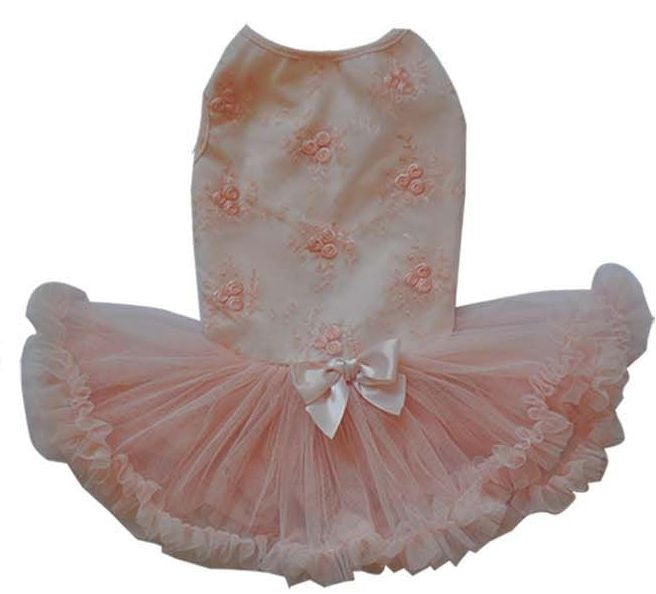 Peach Embroiderd Petti Dress