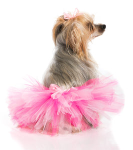 Handcrafted Pink and Hotpink Tulle Tutu for Pets