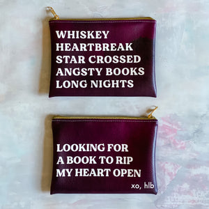 "Hello Lovely ""Angsty Books"" pouch"