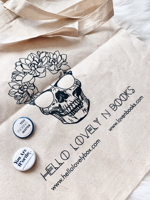 Hello Lovely x Love N. Books Canvas Tote