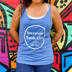"Hello Lovely ""Introvert Book Club"" Flowy Tank"
