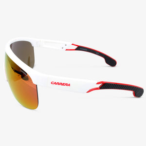 Carrera Heren zonnebril CARRERA 4004-S 6HT White Crystal Grey Rainbow Dots