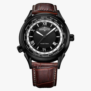 Aeromeister AM9001-S16 Worldtimer herenhorloge