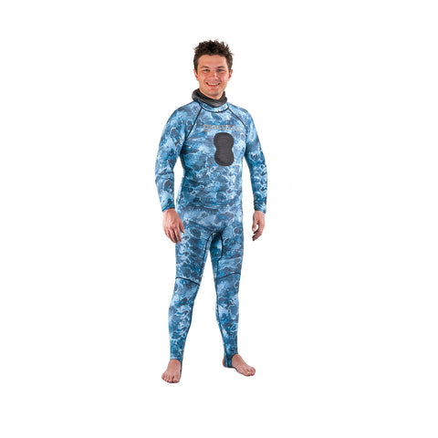 Top Rashguard - Camo Blue
