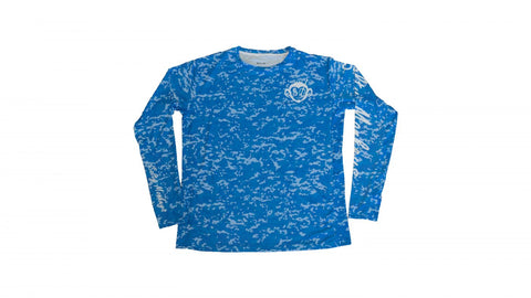 Camo blue long sleeve shirt