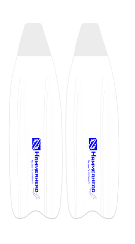 Kaudal Blades Pair - White/Blue