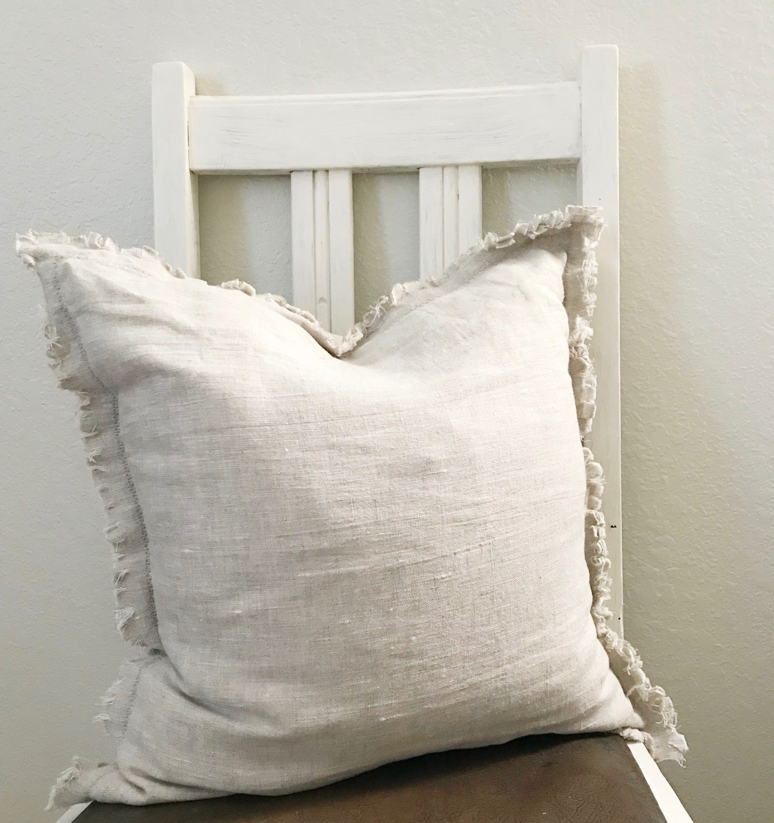 Oatmeal Linen Pillows