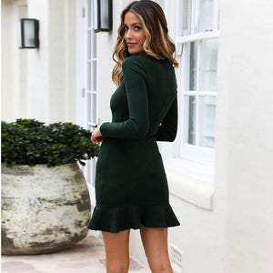 Sexy Long Sleeve Casual Bodycon Dress