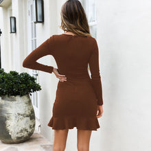 Load image into Gallery viewer, Sexy Long Sleeve Casual Bodycon Dress