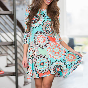 Summer Vintage Party Beach Dress