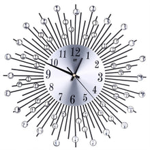 Load image into Gallery viewer, Decorative Wall Clock with Crystals