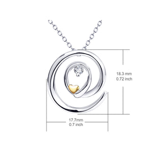 Sterling silver jewelry pendant necklace