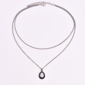 Stunning Drop Stone Necklace