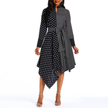 Load image into Gallery viewer, Black & White Polka Dot Slim Dress