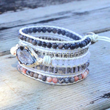 Load image into Gallery viewer, Natural Stones Wrap Bracelet
