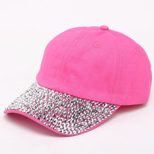 Load image into Gallery viewer, Women/ Daughter's Baseball Cap With Rhinestone Beads